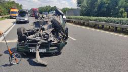 Veszélyes árut szállító teherautónak ütközött